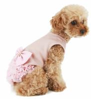 Luxury Frilled Dog Dress - Pink / Gold