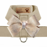 Doe Tinkie Harness with Champagne Glitzerati Nouveau Bow - Choose Color