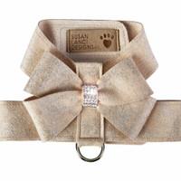 Champagne Glitzerati Nouveau Bow Tinkie Dog Harness