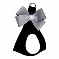 Black Glitzerati Nouveau Platinum Bow Step in Harness - Choose Color