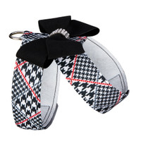 Classic Glen Houndstooth Black Nouveau Bow Tinkie Dog Harness