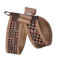 Custom - Chocolate Glen Houndstooth Big Bow Tinkie Harness w/Fawn Trim