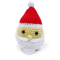 Santa Crocheted PAWer Squeaker Dog Toy