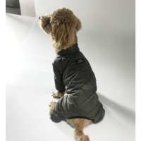 Mac Calgary Padded Dog Overalls / Bodysuit - Black