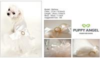 Puppy Angel Kay Luxury Dog Tutu Dress - White