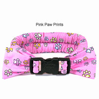 Too Cool Cooling Dog Collars -Pink Paw Print
