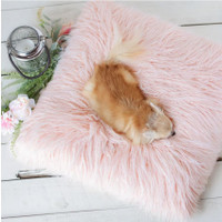 The Himalayan Yak Dog Bed: Peach