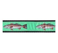 Red Fish 3/4 & 1.25 inch Dog Collar, Harness