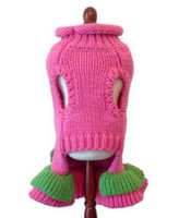 Girlie Girl Dog Sweater Dress - Hand Knitted