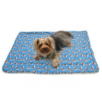 Ultra Soft Minky Silly Sharks Pet Dog Pajamas & Optional Blanket