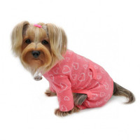 Blush of Love Fleece Turtleneck Pet Dog Pajamas & Optional Blanket