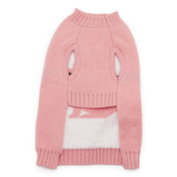 Bunny Dog Sweater - Pink