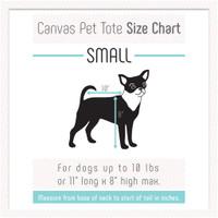 Canvas Pet Dog Tote - Black