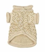 Heart to Heart Dog Sweater - Beige