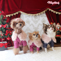 Wooflink Luxe Button Up Dog Jacket - Pink