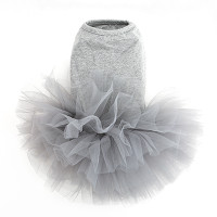 Puppy Angel Tutu Dog Dress - Gray