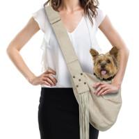 Custom - Luxe Suede Cuddle Dog Carrier & Fringe