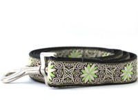 Pinwheel Dutch Spring Extra Wide Dog Collar - Personalized Buckle