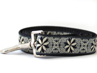 Pinwheel Norway Winter Extra Wide Dog Collar - Personalized Buckle