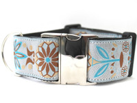 Boho Morocco Extra Wide Dog Collar - Personalized Buckle