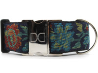 Nashville Rose Extra Wide Dog Collar - Personalized Buckle