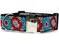 Hendrix Extra Wide Dog Collar - Personalized Buckle