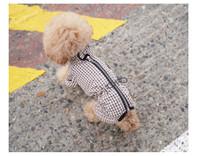 Magagio Check Dog Raincoat Overalls - Beige