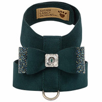 Emerald Green Big Bow Tinkie Dog Harnesses by Susan Lanci