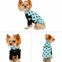 Puppy Angel Dot Rash Guard (Summer) - Blue/Black