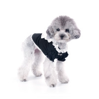 Puppy Angel Petite Frill Dog Blouse - Black