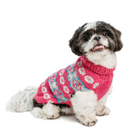 Alpaca Rose Fairisle Hand Knit Dog Sweaters
