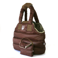 Puppy Angel Love Down Padding Pet Carrier - Brown