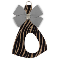 Nouveau Bow Dog Step In Harness - Cheetah Print Base