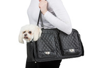 Marlee Pet Dog Carrier - Black Quilted by Petote