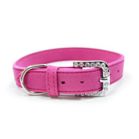 VIP Bling Pet Dog Collar - Fuchsia or Gray