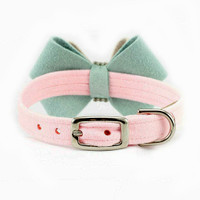 Hope Bow Dog Collar by Susan Lanci - In Stock
