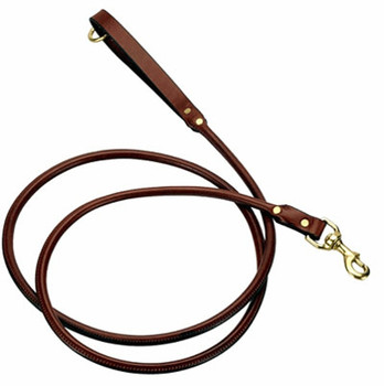 Dog Leash - Leather Rolled Snap Lead