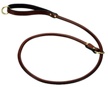 Dog Leash - Leather Rolled Slip Dog Lead