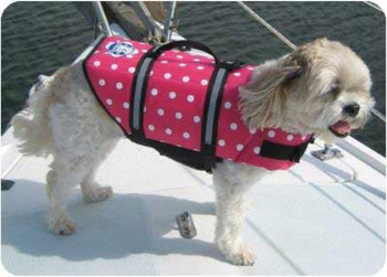 Dog Life Jacket - Pink Dots