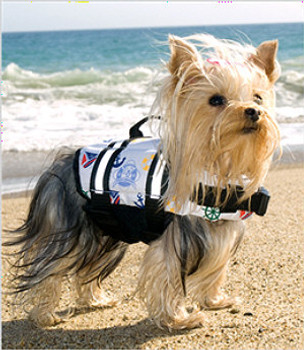 Dog Life Jacket - Nautical