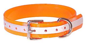 Dog Collar - Orange Reflective by Mendota