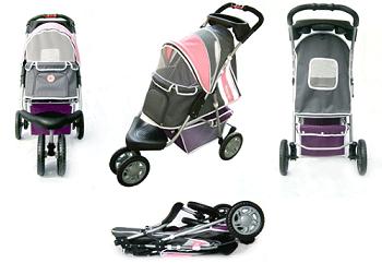 1st Class Dog Jogger Stroller - Pink - 3 Wheeled