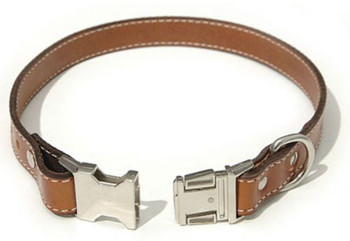 Black Seneca Leather Collar - Engravable