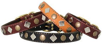 Studded Leather Collar - Medium to Large