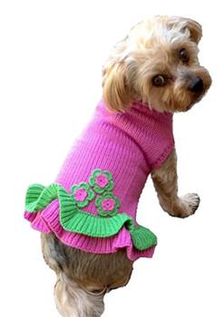 Girlie Girl Dog Sweater Dress
