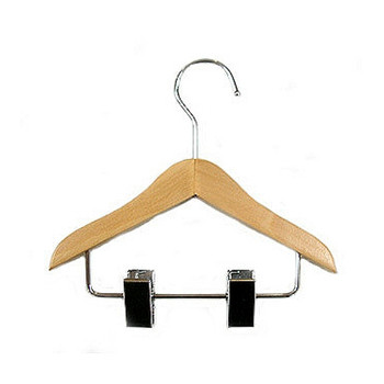 Wood Dog Clothing Hanger with Clips - 2 pcs