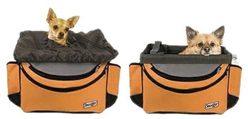 Sporty Bike Pet Basket - Orange