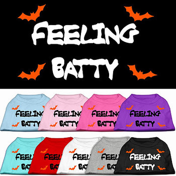 Feeling Batty Halloween Dog Tee Shirt