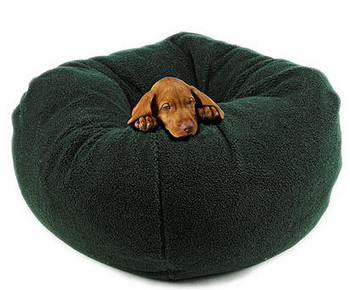 Forest Green Bowser Ball Dog Bed