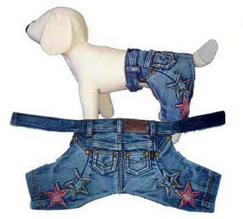 Denim Stars Dog Pants